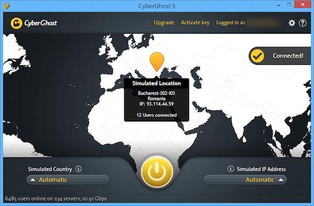 Cyberghost 5 Premium Plus VPN Serial Key