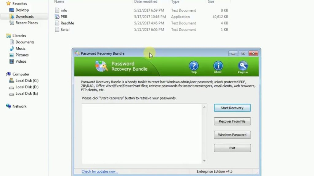 password recovery bundle free download
