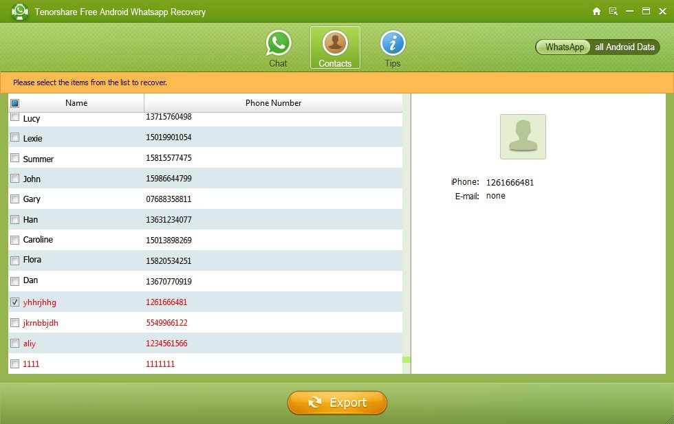 Tenorshare Whatsapp Recovery Serial Key