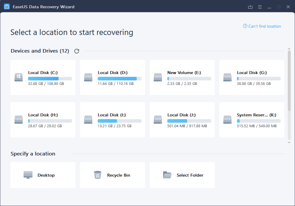 EaseUS Data Recovery Wizard 12.9.0 Crack + License Code Full