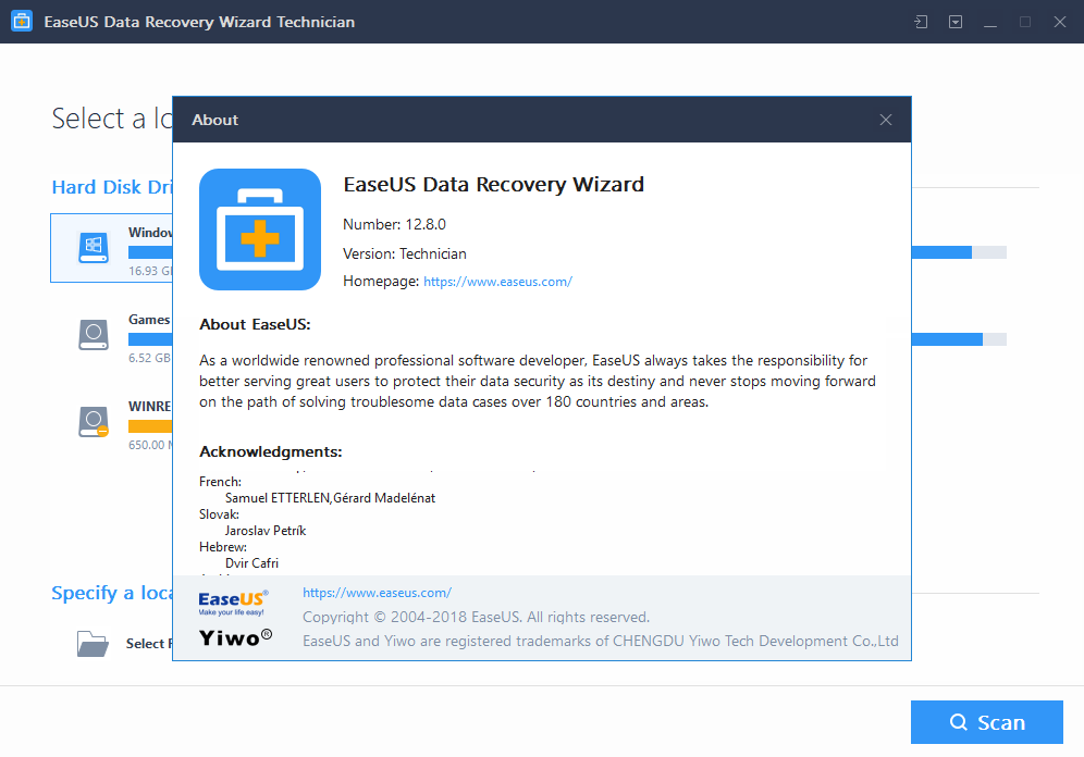EaseUS Data Recovery crack download